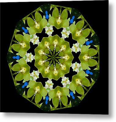 19-petaled Lucky Shamrock Metal Print by Baha'i Writings As Art