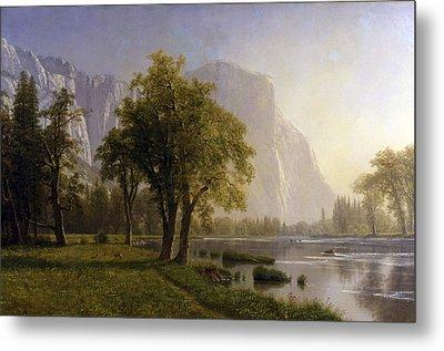 Yosemite Valley Metal Print by Albert Bierstadt
