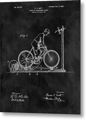 1900 Exercise Bike Patent Metal Print