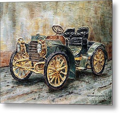 1901 Mercedes Benz Metal Print by Joey Agbayani