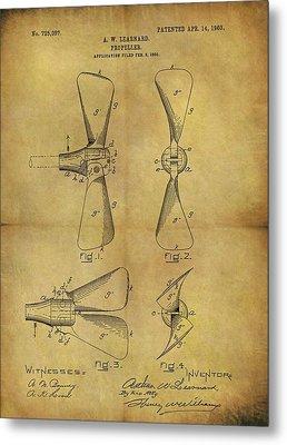 1903 Boat Propeller Patent Metal Print