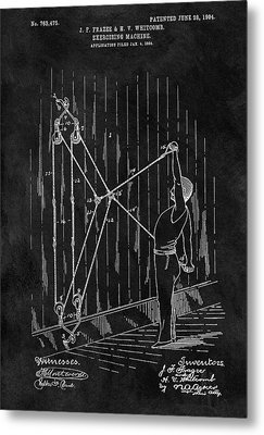 1904 Exercise Apparatus Patent Metal Print by Dan Sproul