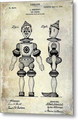 1904 Toy Patent Drawing Metal Print by Jon Neidert