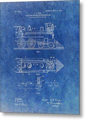 1904 Train Patent Metal Print by Dan Sproul
