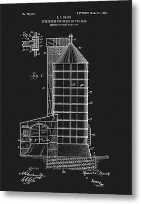1905 Grain Silo Patent Metal Print