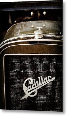 Metal Print featuring the photograph 1907 Cadillac Model M Touring Grille Emblem -1106ac by Jill Reger