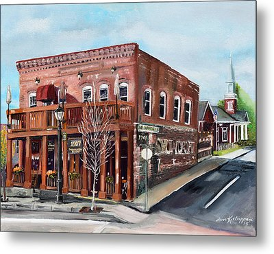 Metal Print featuring the painting 1907 Restaurant And Bar - Ellijay, Ga - Historical Building by Jan Dappen