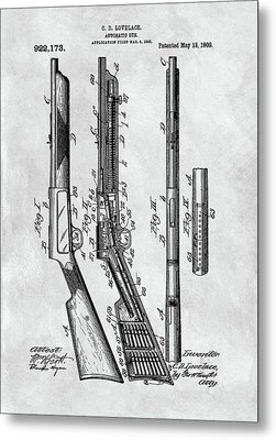 1909 Automatic Rifle Patent Metal Print