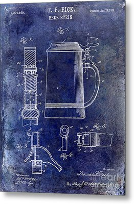 1914 Beer Stein Patent Metal Print