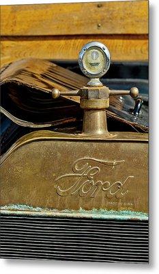 1915 Ford Depot Hack Hood Ornament  Metal Print by Jill Reger