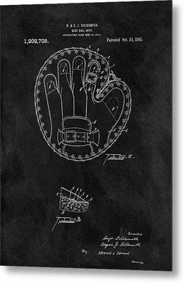 1916 Baseball Mitt Patent Metal Print by Dan Sproul