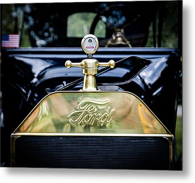 1916 Ford Model T Touring Tin Lizzie Metal Print by Jack R Perry