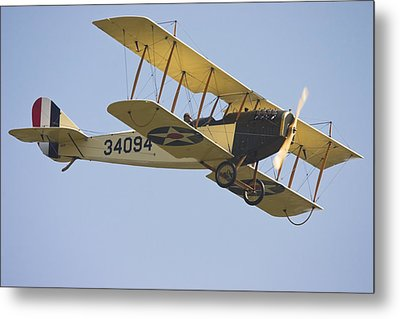 1917 Curtiss Jn-4d Jenny Flying Canvas Photo Poster Print Metal Print by Keith Webber Jr