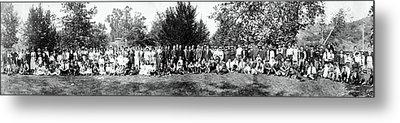 Metal Print featuring the photograph 1921 Japanese Americans In Los Angeles California by Historic Image