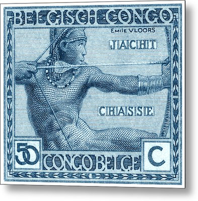 Metal Print featuring the painting 1923 Belgian Congo Native Hunting by Historic Image