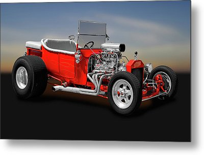 Metal Print featuring the photograph 1923 Ford T-bucket Roadster    -    1923fordtbucket170588 by Frank J Benz
