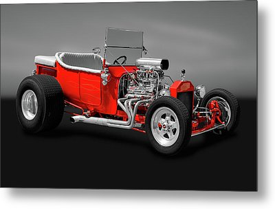 Metal Print featuring the photograph 1923 Ford T-bucket Roadster   -   1923fordtbucketgry170588 by Frank J Benz