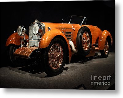 1924 Hispano Suiza Dubonnet Tulipwood . Front Angle Metal Print by Wingsdomain Art and Photography