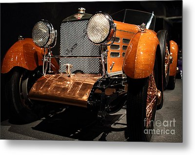1924 Hispano Suiza Dubonnet Tulipwood . Grille Angle Metal Print by Wingsdomain Art and Photography