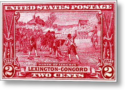 1925 Birth Of Liberty Stamp Metal Print by Historic Image
