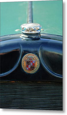 1925 Cadillac Hood Ornament And Emblem Metal Print by Jill Reger
