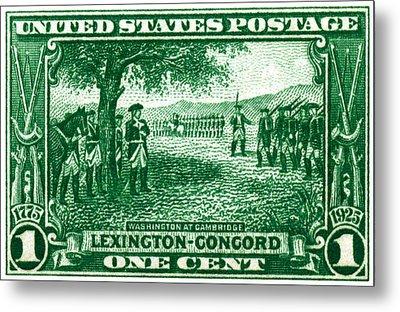 1925 George Washington At Cambridge Stamp Metal Print by Historic Image