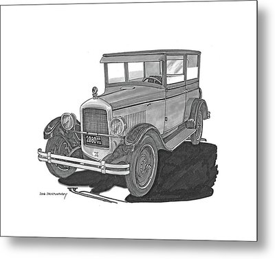1925 Jewett 2 Door Touring Sedan Metal Print