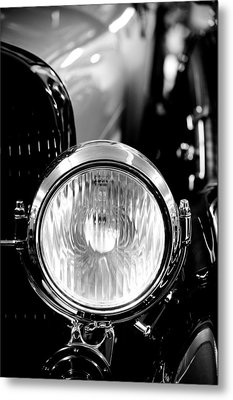 1925 Lincoln Town Car Headlight Metal Print