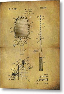 1925 Tennis Racket Patent Metal Print