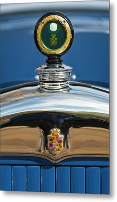1926 Cadillac Series 314 Custom Hood Ornament Metal Print by Jill Reger
