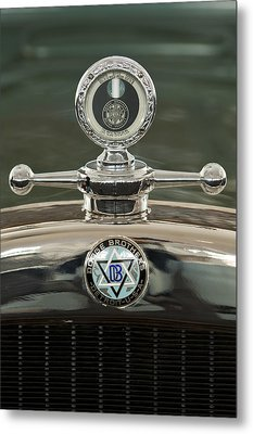 1926 Dodge Woody Wagon Hood Ornament Metal Print by Jill Reger