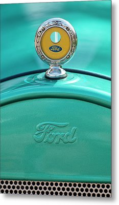 1926 Ford Coupe Hood Ornament Metal Print by Jill Reger