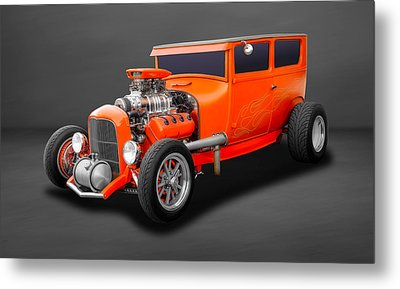 1927 Ford 2 Door Sedan Hemi Powered  -  27hemfd60 Metal Print by Frank J Benz