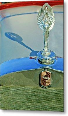 1928 Nash Coupe Hood Ornament 3 Metal Print by Jill Reger