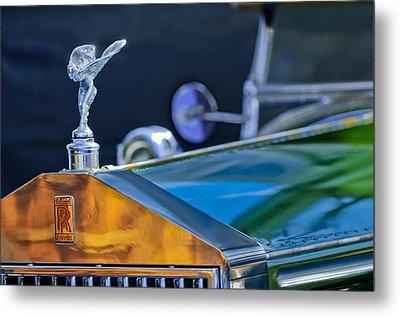 1928 Rolls-royce Phantom I Derby Speedster Hood Ornament Metal Print
