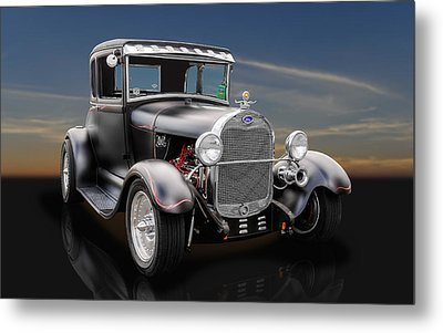 1929 Ford Leatherback 5 Window - 1 Metal Print by Frank J Benz