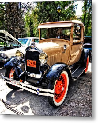 1929 Model A Ford Metal Print by Thom Zehrfeld