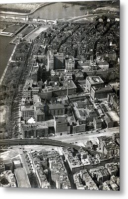 Metal Print featuring the photograph 1930 Along Charles Street, Boston by Historic Image