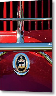 1930 Cord L29 Phaeton Emblem Metal Print by Jill Reger