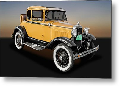 1930 Ford Model A 5 Window Coupe  -  1930fdmda9305 Metal Print by Frank J Benz