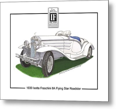 1930 Isotta Fraschini 8a Flying Star Roadster Metal Print by Jack Pumphrey