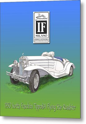 1930 Isotta Fraschini Tippo 8 A Flying Star Roadster Metal Print by Jack Pumphrey