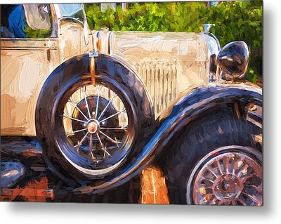 1930 Model A Ford Deluxe Roadster Convertible 13 Metal Print by Rich Franco