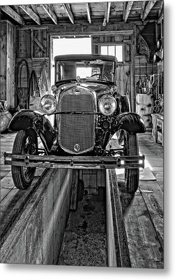 1930 Model T Ford Monochrome Metal Print by Steve Harrington
