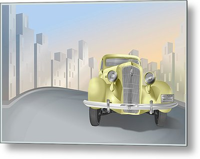 1930's Plymouth Sedan Metal Print by Marty Garland