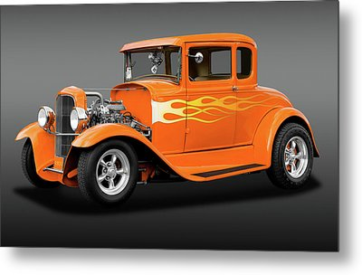 Metal Print featuring the photograph 1931 Ford Model A 5 Window Coupe  -  1931fordmdlacoupefa172189 by Frank J Benz
