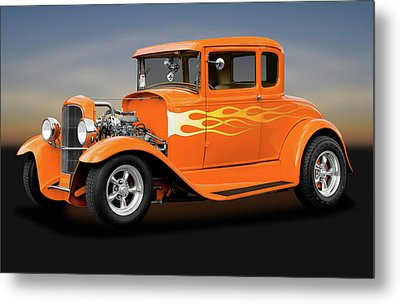 Metal Print featuring the photograph 1931 Ford Model A 5 Window Coupe  -  1931fordmodela172189 by Frank J Benz