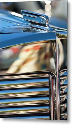 1931 Marmon Sixteen Coupe Hood Ornament Metal Print by Jill Reger