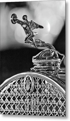 1931 Packard Convertible Victoria Hood Ornament 2 Metal Print by Jill Reger