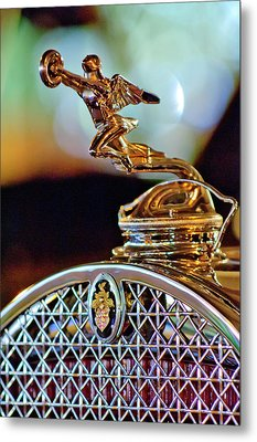 1931 Packard Convertible Victoria Hood Ornament Metal Print by Jill Reger